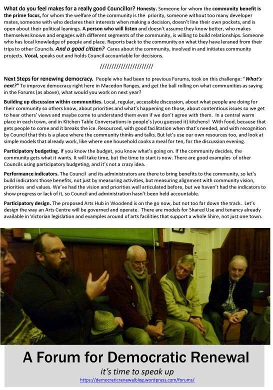 Discussion Kyneton 7 August 2016-2